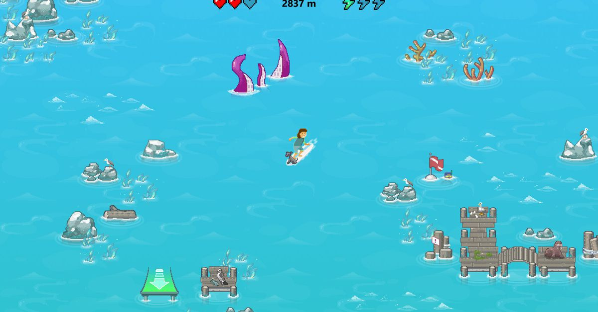 Microsoft is adding a secret SkiFree-like surfing game into its Edge browser
