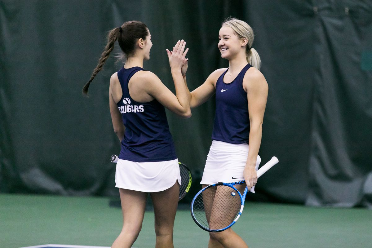 Taylah Beckman and Samantha Smith aided the Cougars in their 4-2 win against Boise State.