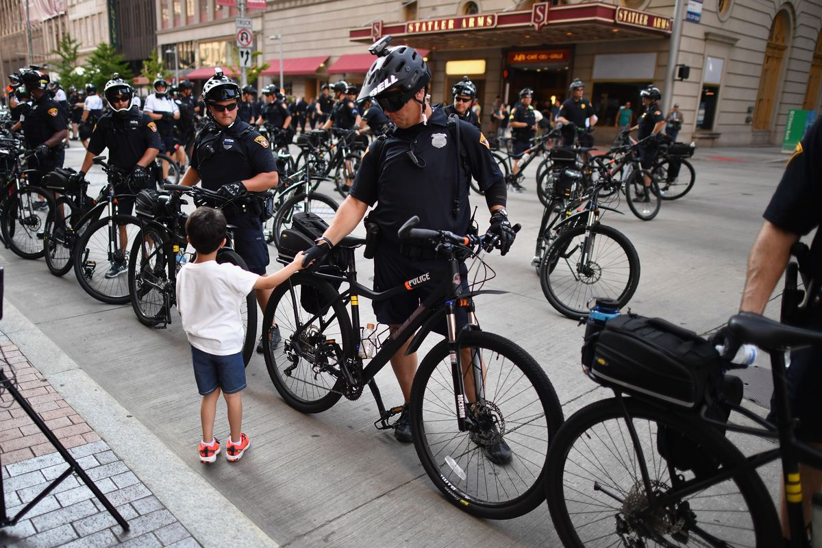 Police officers in Cleveland.