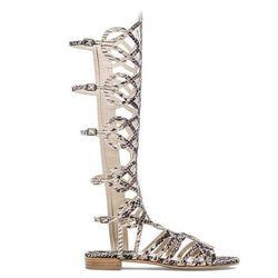 "<b>Stuart Weitzman</b> Aphrodite Sandals, <a href=""http://www.stuartweitzman.com/products/aphrodite/?DepartmentId=360&DepartmentGroupId=-1&F_All=Y"">$485</a>"