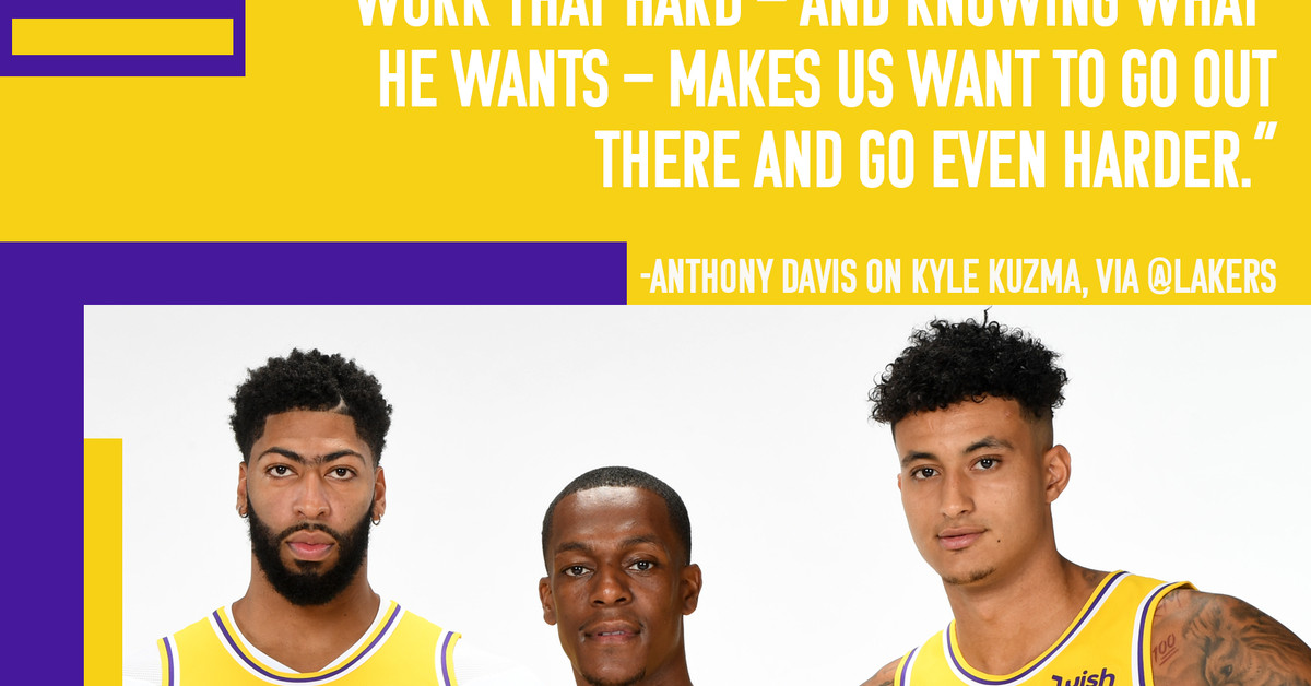Lakers News Anthony Davis Is Excited For Kyle Kuzma To