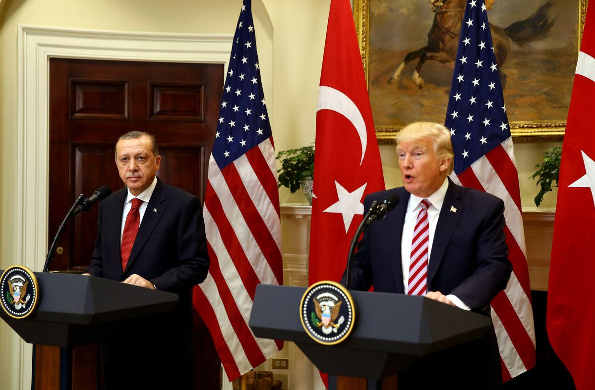 Trump holds a press conference Tuesday with Turkish President Recep Tayyip Erdogan.