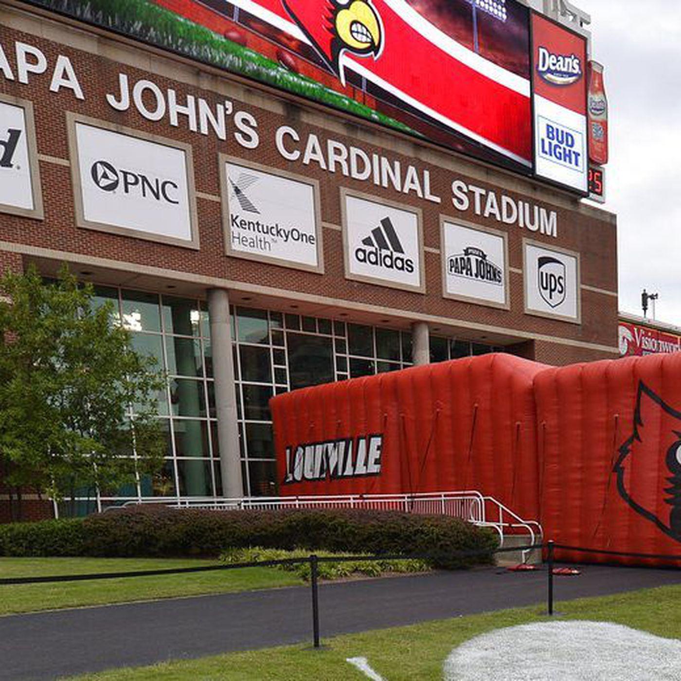 c869b43b8f3 Papa John s name removed from the University of Louisville stadium ...