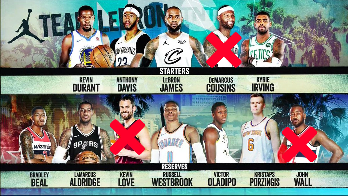 new product 3a142 f65d7 LeBron James' all-star team might be cursed - SBNation.com