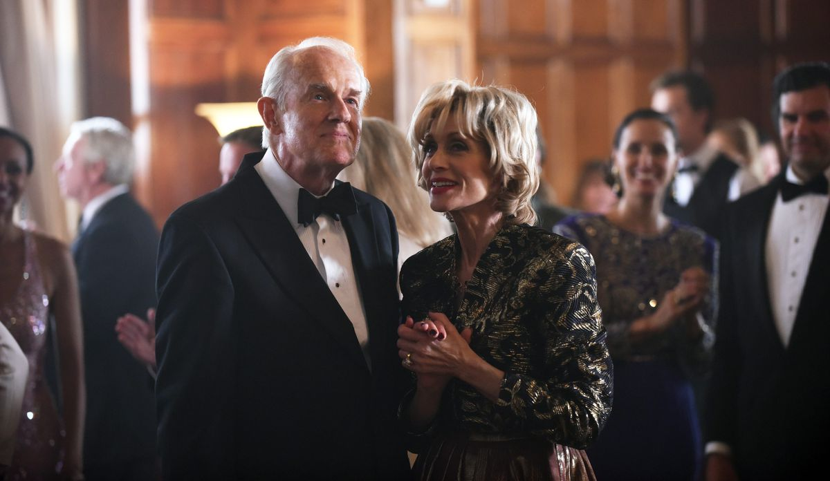 """Mike Farrell plays Lee Miglin with Judith Light as his wife, Marilyn Miglin, on """"The Assassination of Gianni Versace: American Crime Story."""" 
