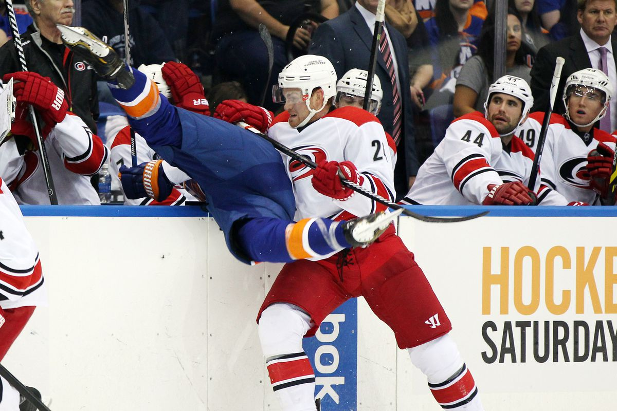 Ville Pokka's welcome to the NHL.
