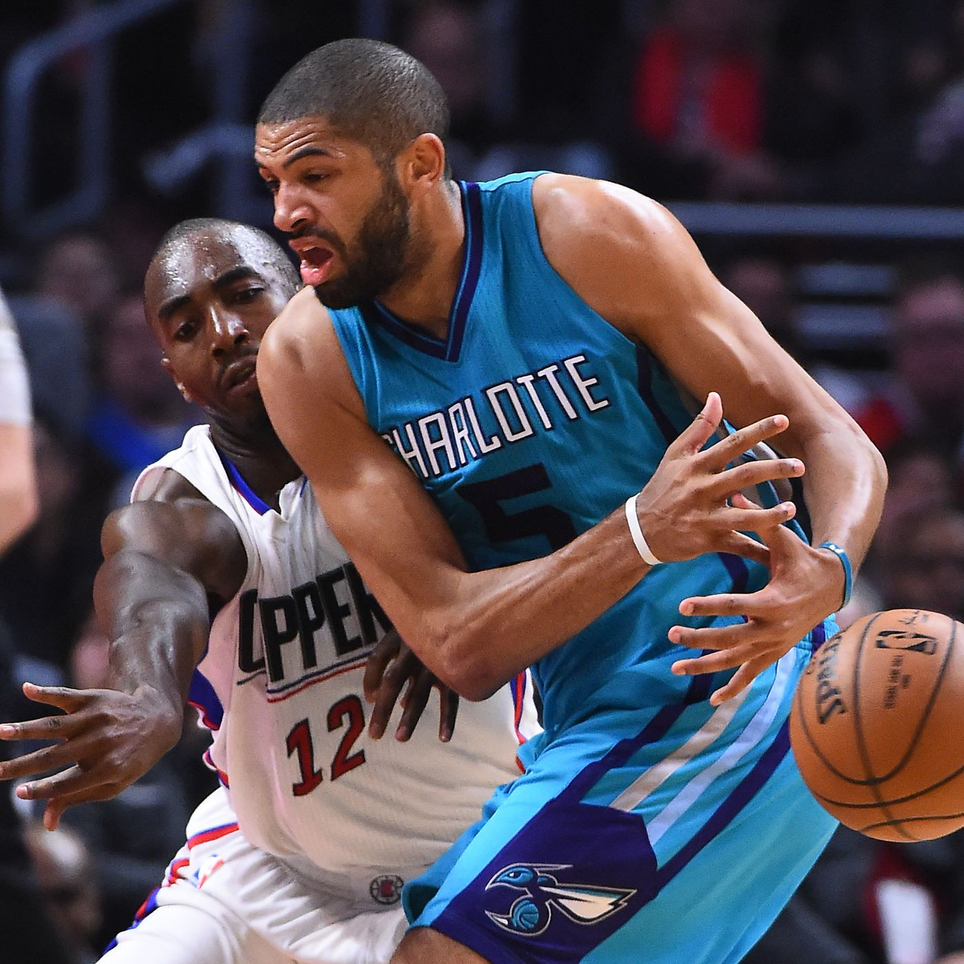 b117db10855a Clippers outlast Hornets in hero ball exhibition - At The Hive