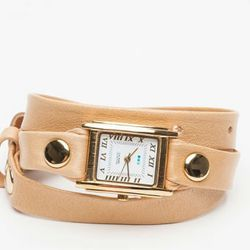 """La Mer Camel smooth washed wrap watch, $92 at <a href=""""http://needsupply.com/camel-smooth-washed-simple.html"""">Need Supply</a>."""