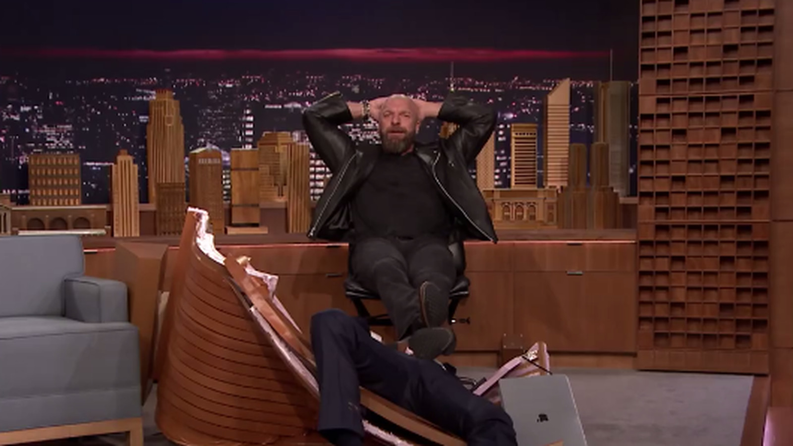 Resultado de imagem para Triple H jimmy fallon