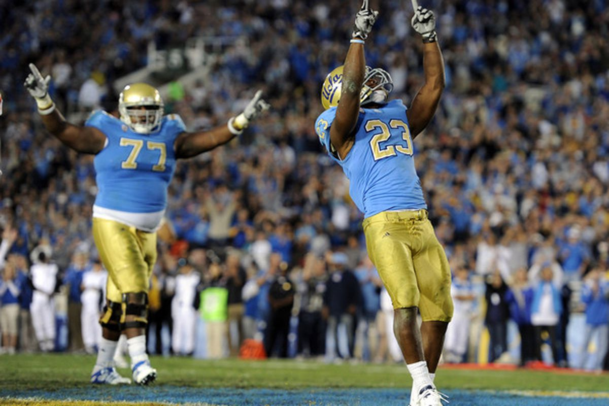 Let's hope this is an image we see a lot of tonight in the Rose Bowl. GO BRUINS!  (Photo by Harry How/Getty Images)