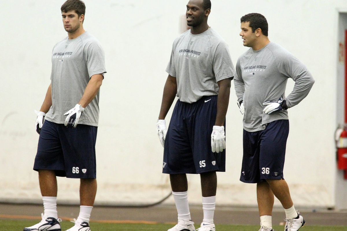 Nate Ebner (right) will have his work cut out for him to make the Patriots.