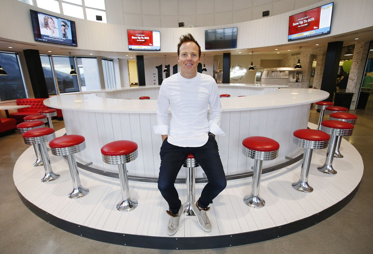 Qualtrics CEO Ryan Smith sits in the Hub at the company's headquarters in Provo on Friday, Feb. 2, 2018.