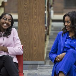 Michelle Obama meets with Whitney Young students | Ashlee Rezin/Sun-Times