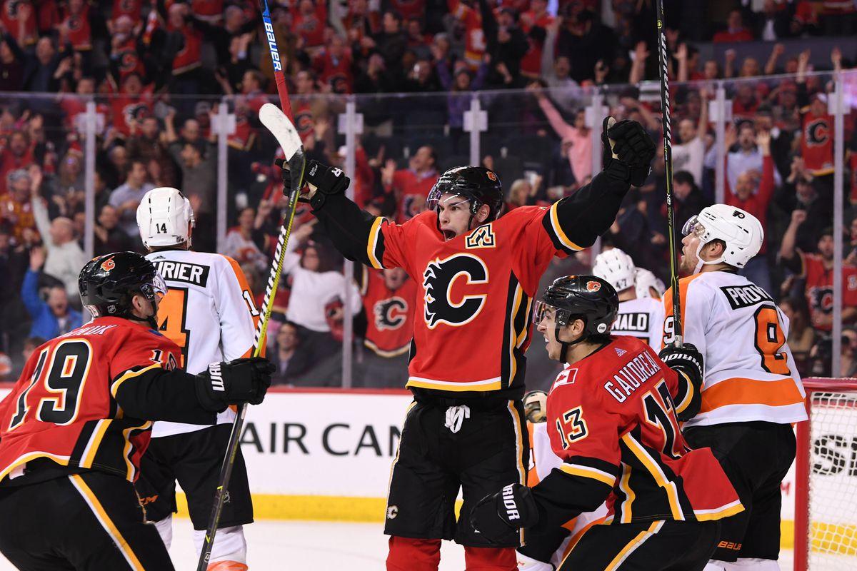 NHL: Philadelphia Flyers at Calgary Flames