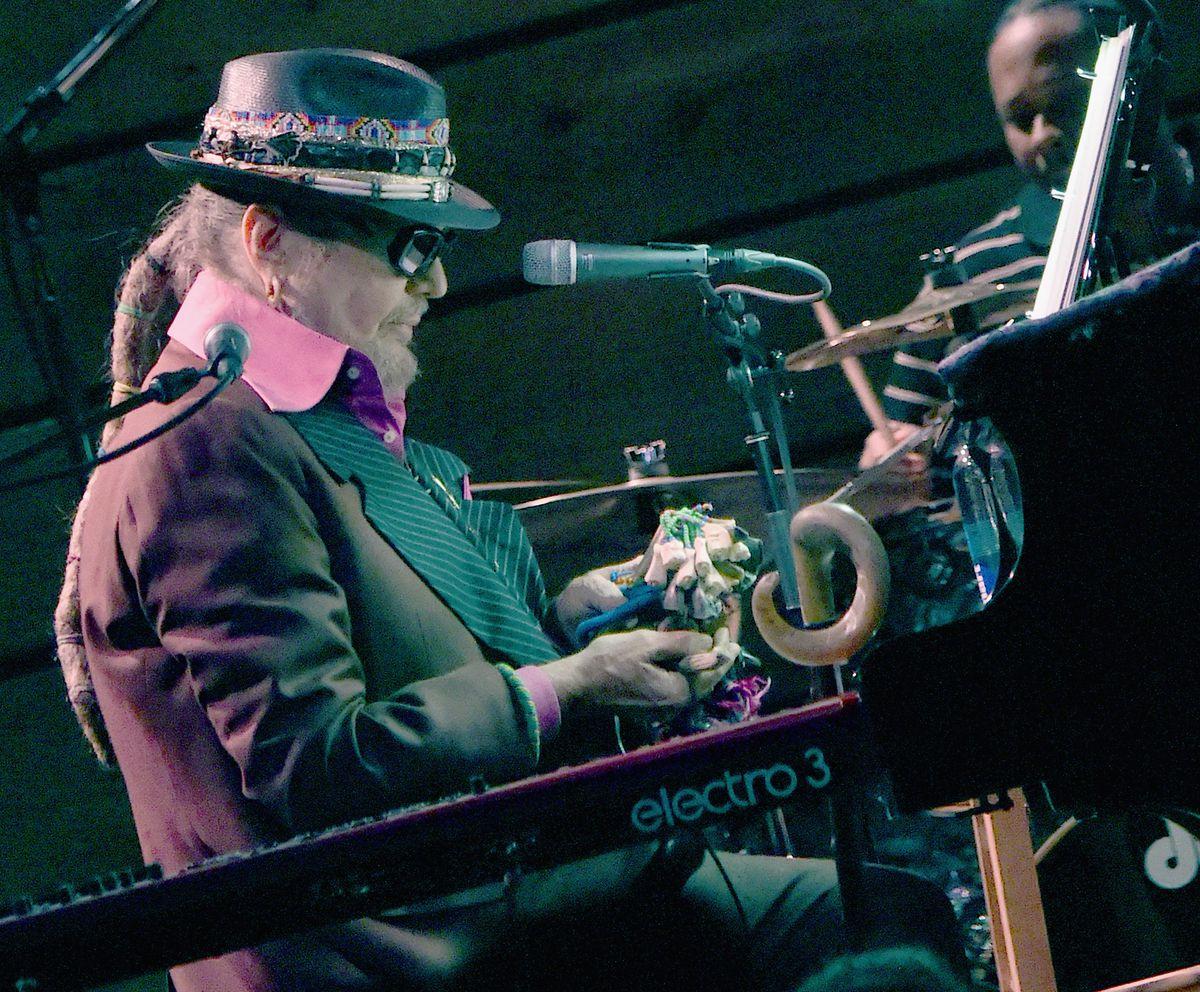 "Dr. John (Malcolm John ""Mac"" Rebennack) performs on Mardi Gras/Fat Tuesday at City Winery Nashville on February 9, 2016 in Nashville, Tennessee."