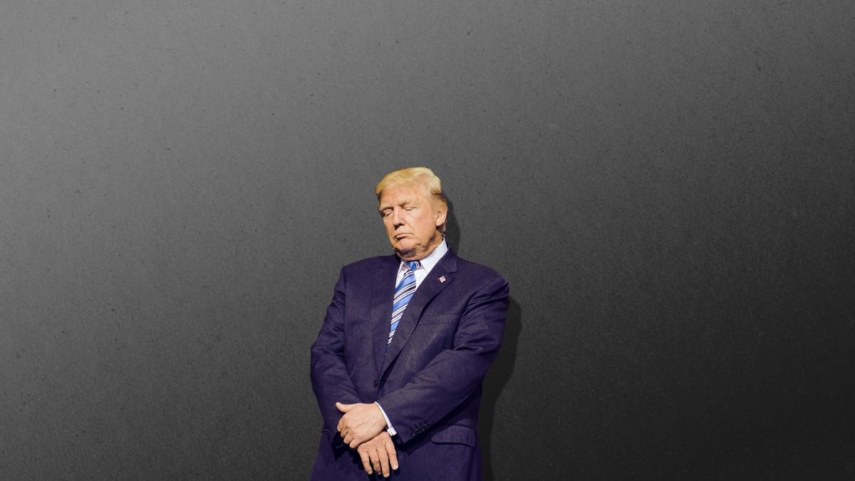 President Donald Trumpstanding by himself