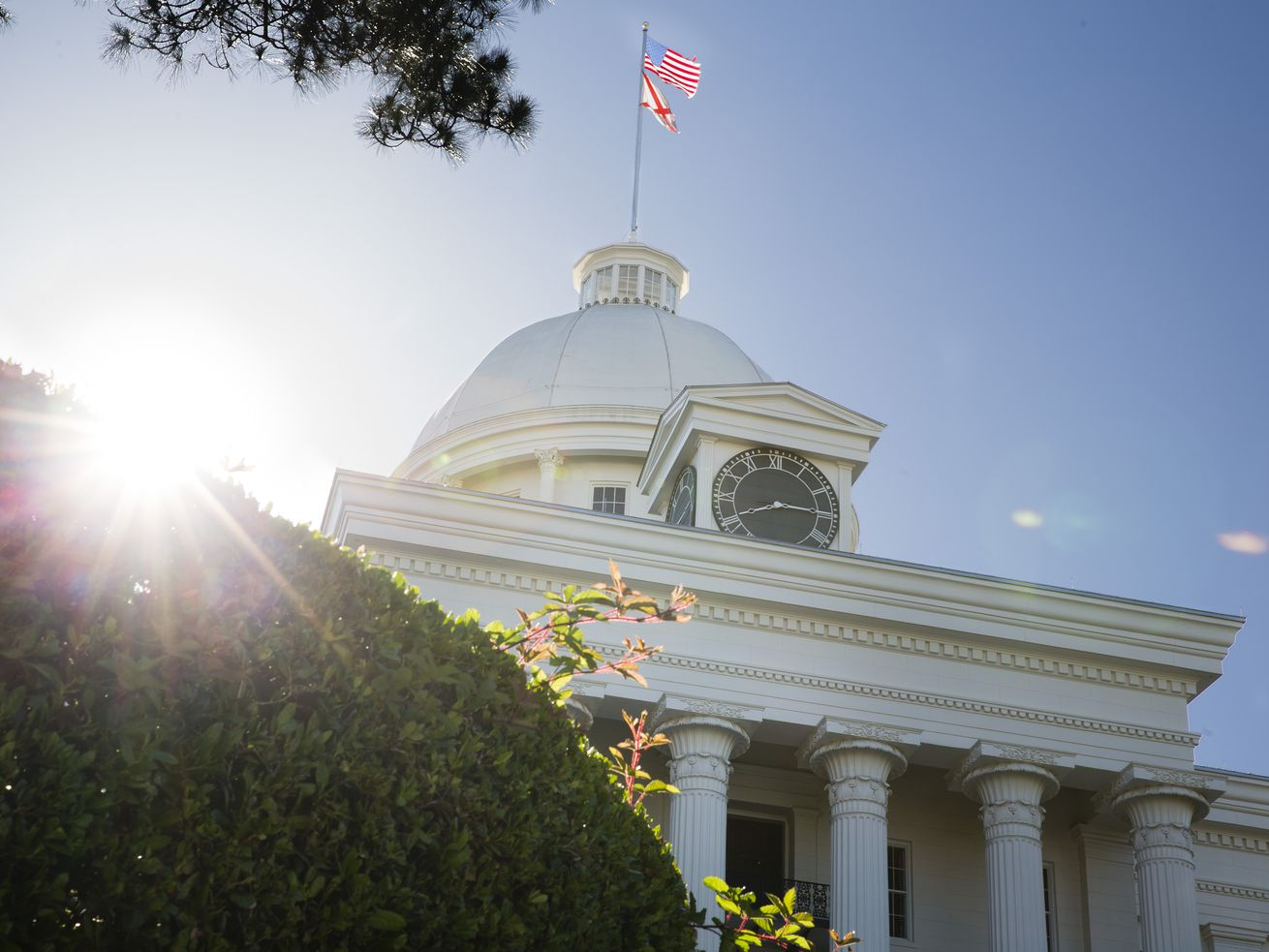 The Alabama State Capitol building in Montgomery.