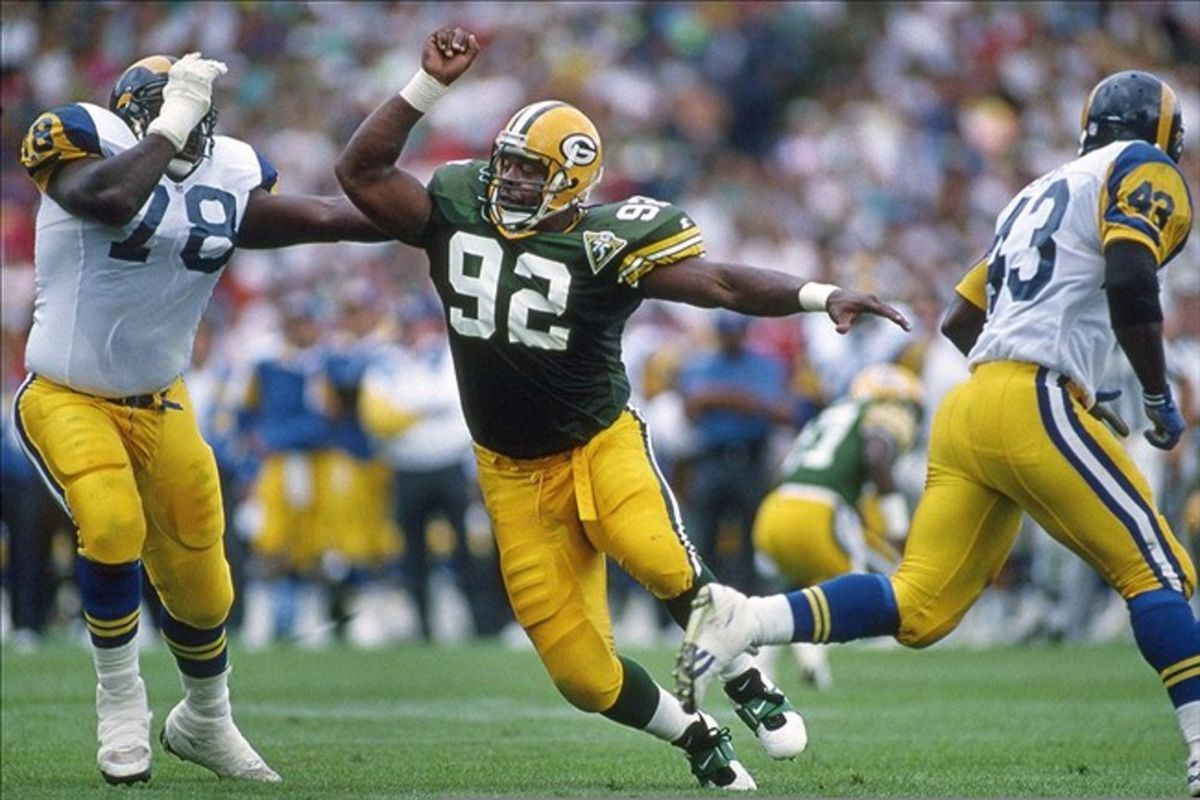 Reggie White played for the Packers in Milwaukee in 1993.