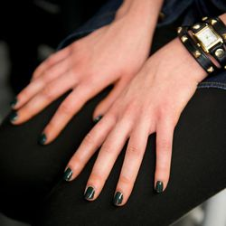 """Essie """"Licorice"""" and """"Going Incognito"""" at Rachel Roy. Photo: Essie"""