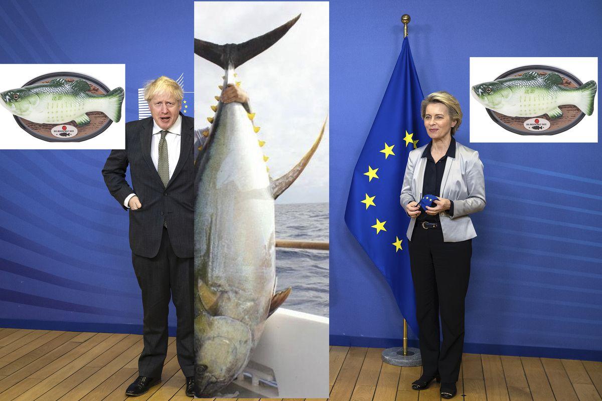 Big Mouth Boris Bass and European Commission president Ursula von der Leyen