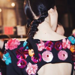 An up-close shot of the beautiful flowers backstage at Honor. I was blown away by the beautiful detailing.