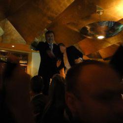 Daniel Boulud steals a Beard award, jumps on the bar, sprays champagne.