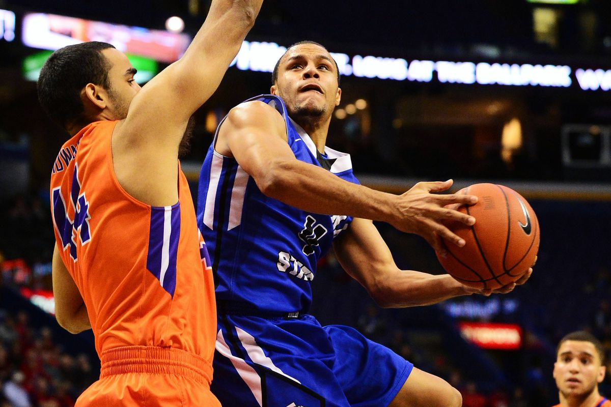NCAA Basketball: Missouri Valley Conference Tournament-Indiana State Sycamores vs Evansville Aces