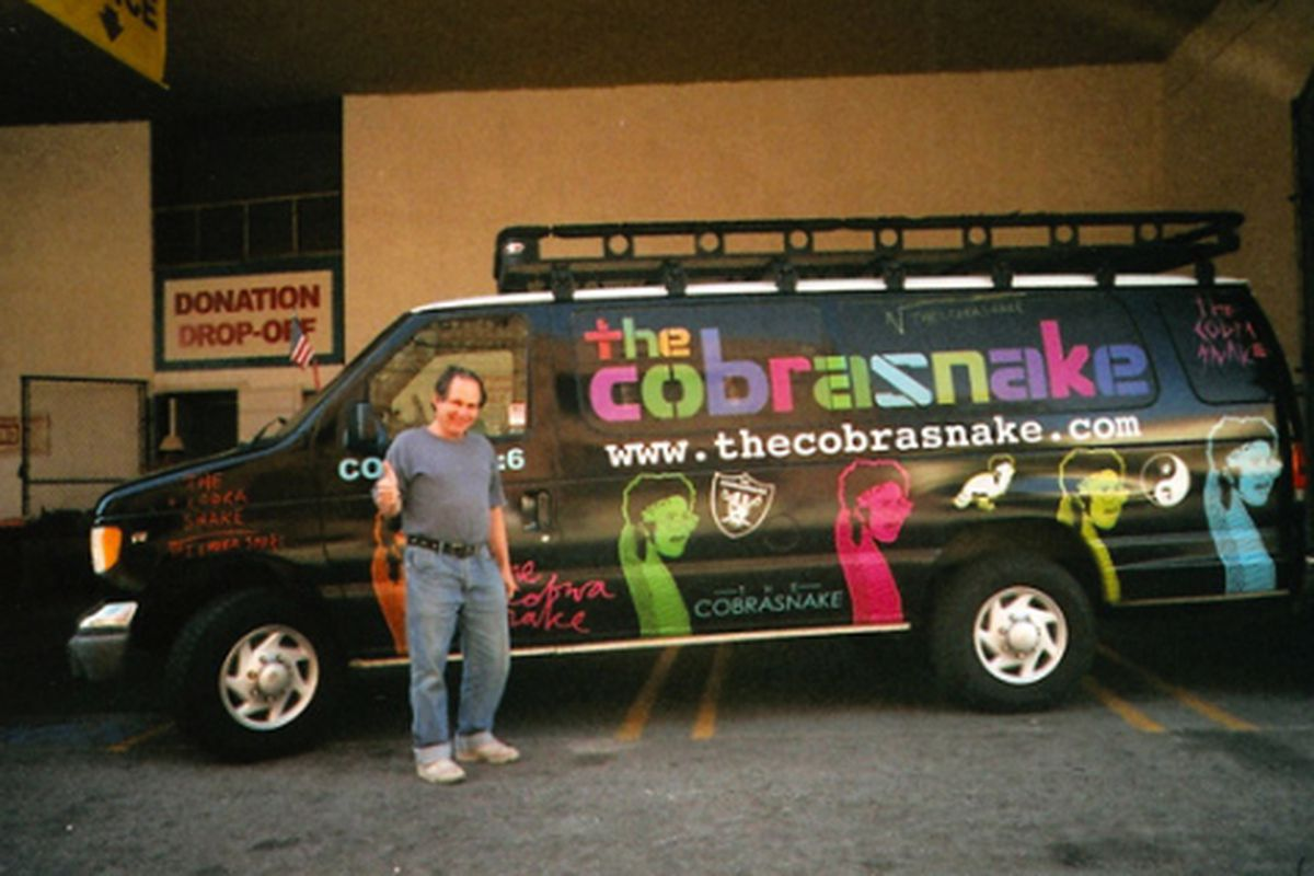 """Mark the Cobra Snake's dad with his sweet custom van. Image via <a href=""""http://pipeline.refinery29.com/my_style/fathers_day.php"""">Refinery29</a>"""