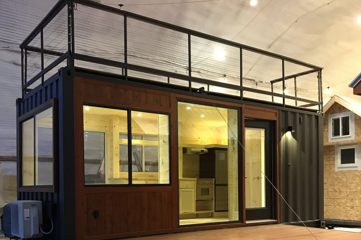 Tiny house meets shipping container in escape s vista c curbed - Shipping container homes chicago ...