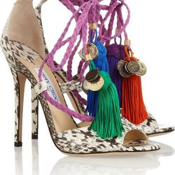 """Jimmy Choo <a href=""""http://www.net-a-porter.com/product/348535"""">rope-tie sandals</a>: """"Made for sashaying around fancy soirees."""""""