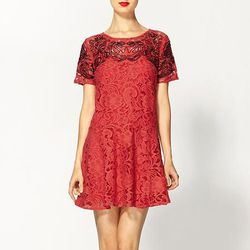"""<b>Free People</b> Beautiful Dreamer lace dress in cherry, <a href=""""http://piperlime.gap.com/browse/product.do?pid=582435012&tid=plpl000000&kwid=1&ap=7&mkwid=U4j00a&adid=Cebqhpg+Nqf"""">$128</a> at Piperlime"""