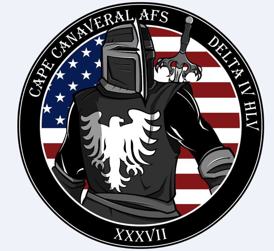 The terrifying mission patch for today's spy satellite is