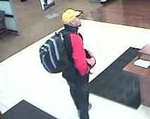 Surveillance image of the suspect in a bank robbery Sept. 18 at the Chase Bank branch at 3531 N. Western Ave. in Roscoe Village.   FBI