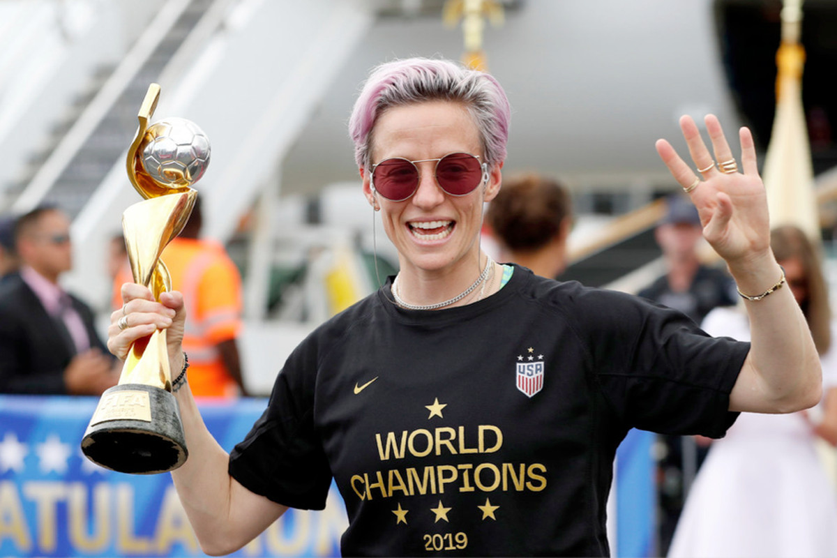 Gay and proud: Megan Rapinoe is the current face of athletic excellence