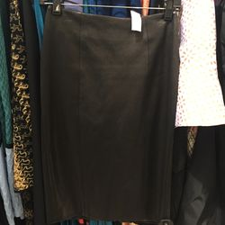 Sally Lapointe leather pencil skirt, size 2, $467.60 (was $1,950)