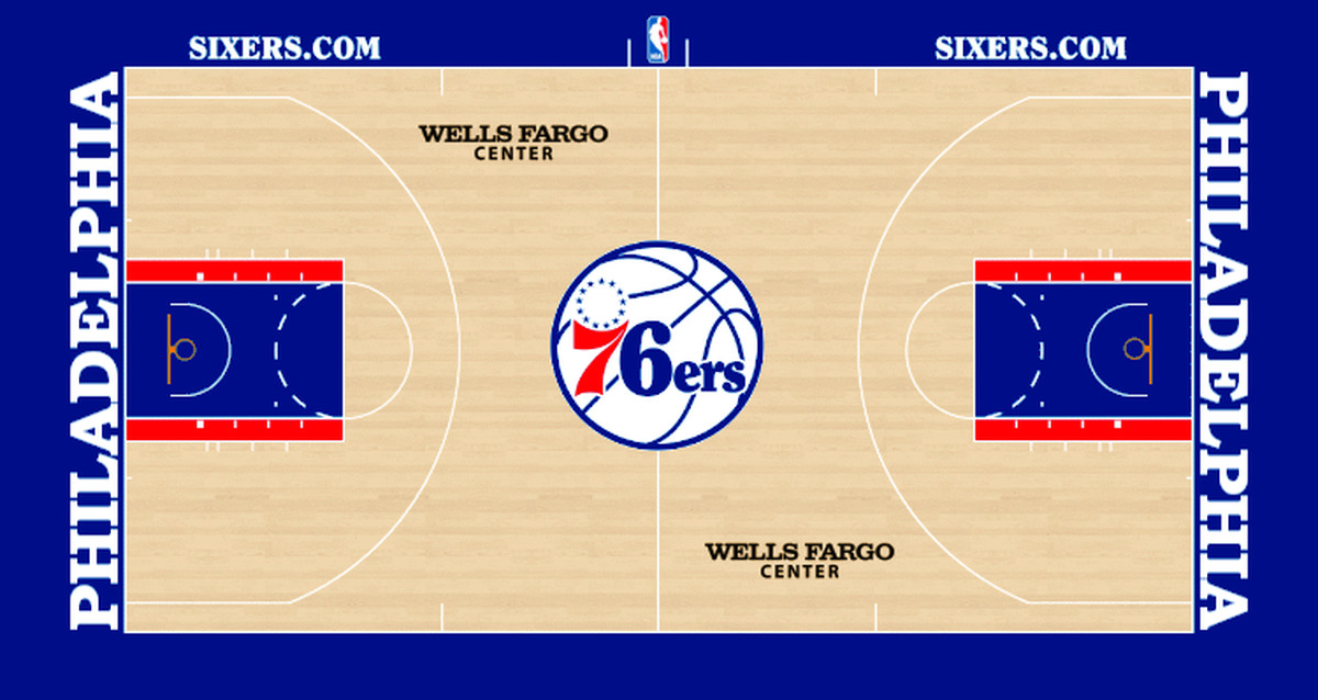 Liberty Links Sixers Unveil New Court Design For Next