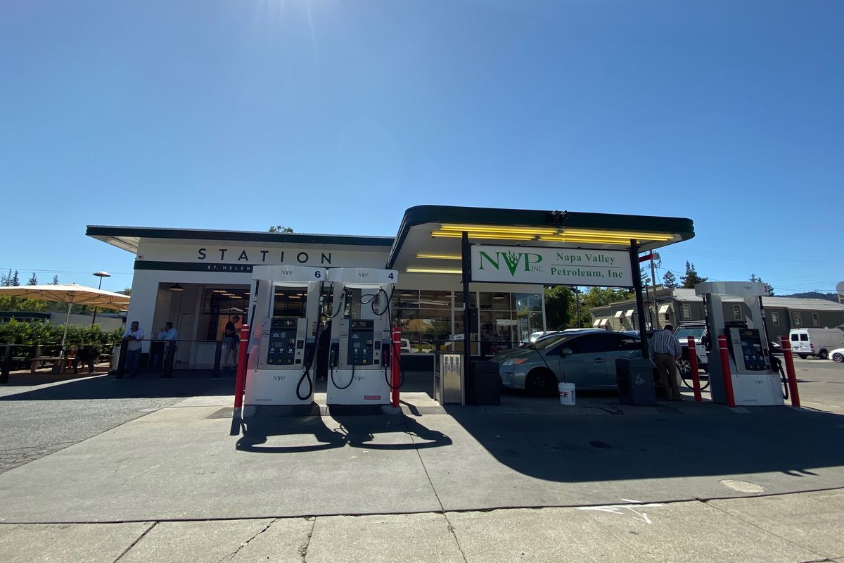 A view of the Station, a new gas station convenience store from the team behind Gott's Roadside