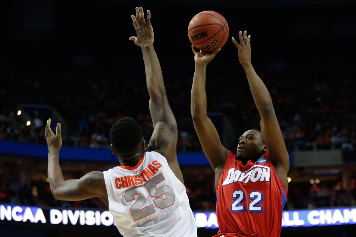 Dayton Flyers forward Kendall Pollard (#22) scored 20 points in the victory against the Saint Louis Billikens, 61-45, on January 17th, 2015