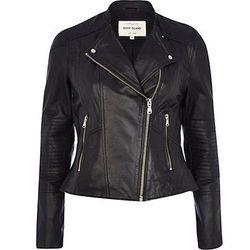 "<b>River Island</b>, <a href=""http://us.riverisland.com/women/coats--jackets/biker-jackets/Black-leather-biker-jacket-659451"">$200</a>"