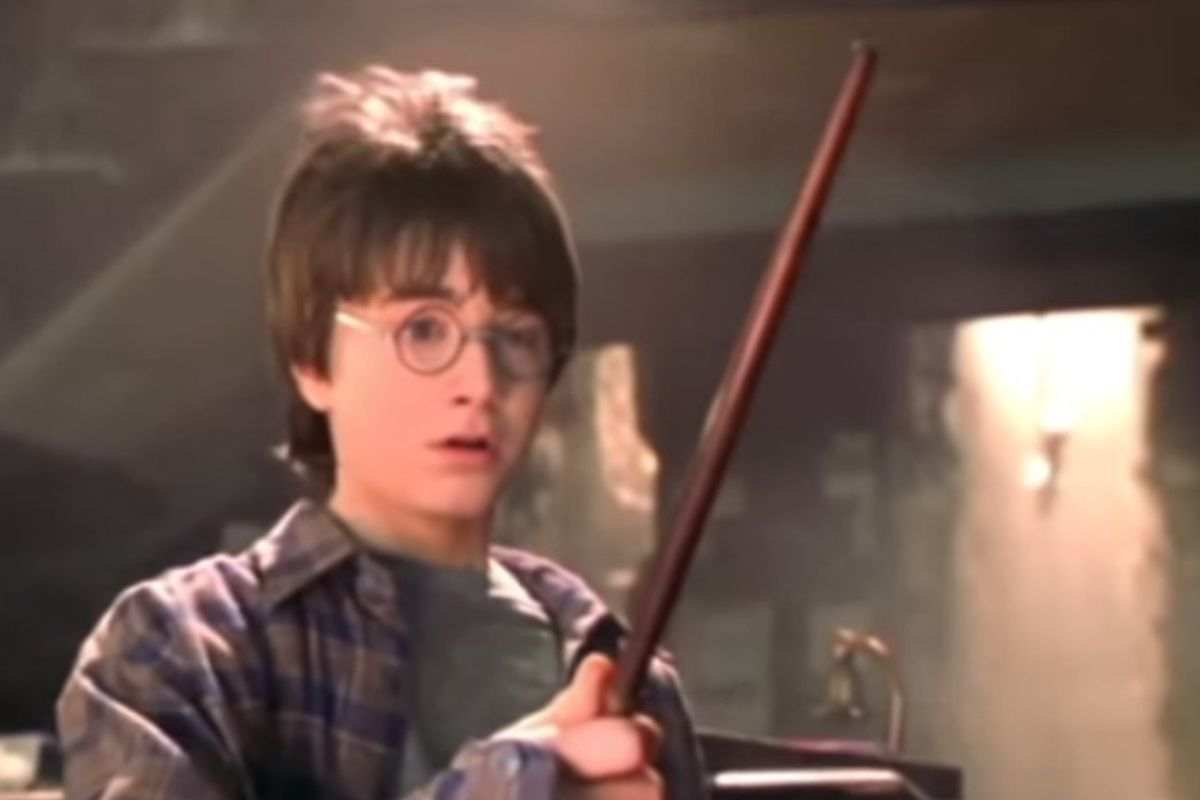 """A still of Daniel Radcliffe from """"Harry Potter and the Sorcerer's Stone."""""""