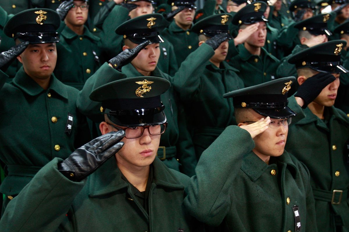 Funeral Held For Marines Killed In North Korean Artillery Barrage On Yeonpyeong
