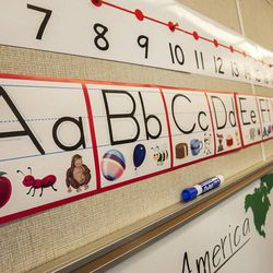 Stacey Johnsen's second-grade class is in session at Daybreak Elementary School on Monday, Feb. 25, 2013. HB318, sponsored by Rep. Becky Edwards, R-North Salt Lake, would set class-size caps at 20 students for kindergarten, 22 for first and second grades, and 24 for the third grade.