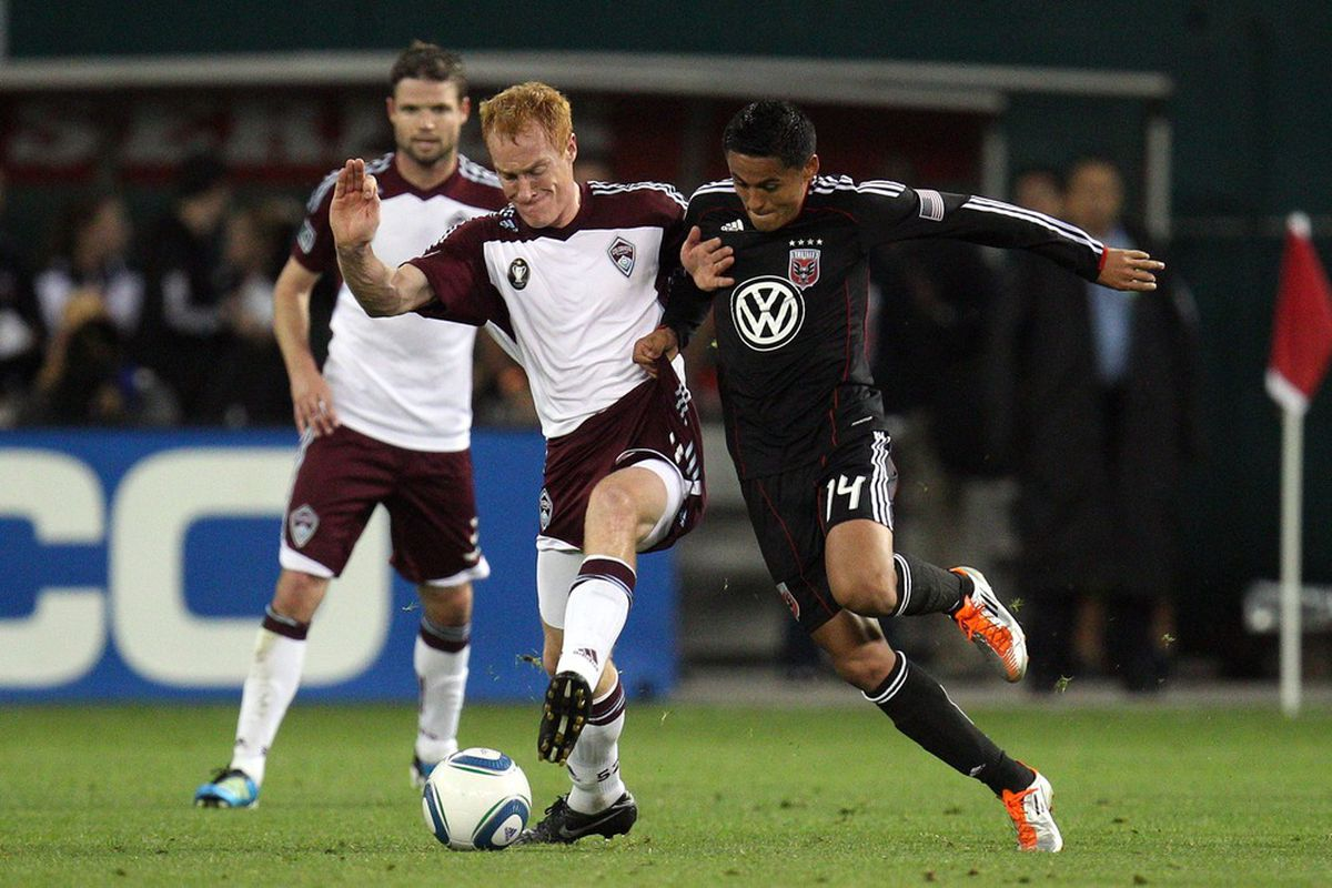 Andy Najar and Jeff Larentowicz will be battling again on Wednesday night