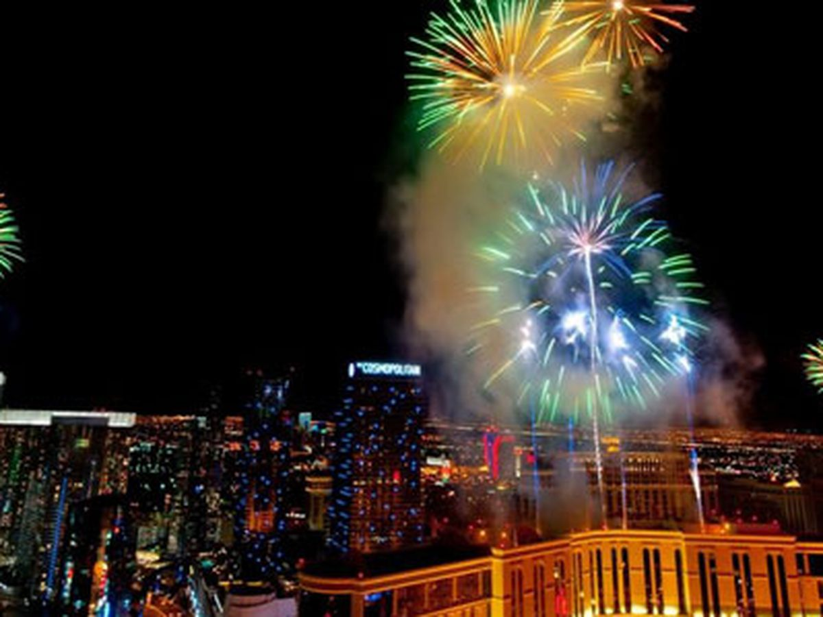 New Year's Even fireworks in Las Vegas