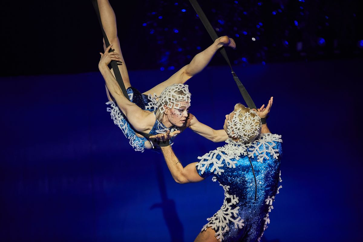 """""""'Twas the Night Before"""" — The first Christmas show from Cirque du Soleil — puts an eye-popping, imaginative spin on a familiar holiday poem."""