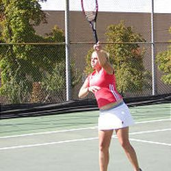 Molly Turner is one of East's singles players, a group who is focused on playing more aggressively.