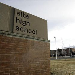 Alta High School in Sandy on Tuesday, March 29, 2011. The school's principal and assistant principal have been placed on administrative leave.