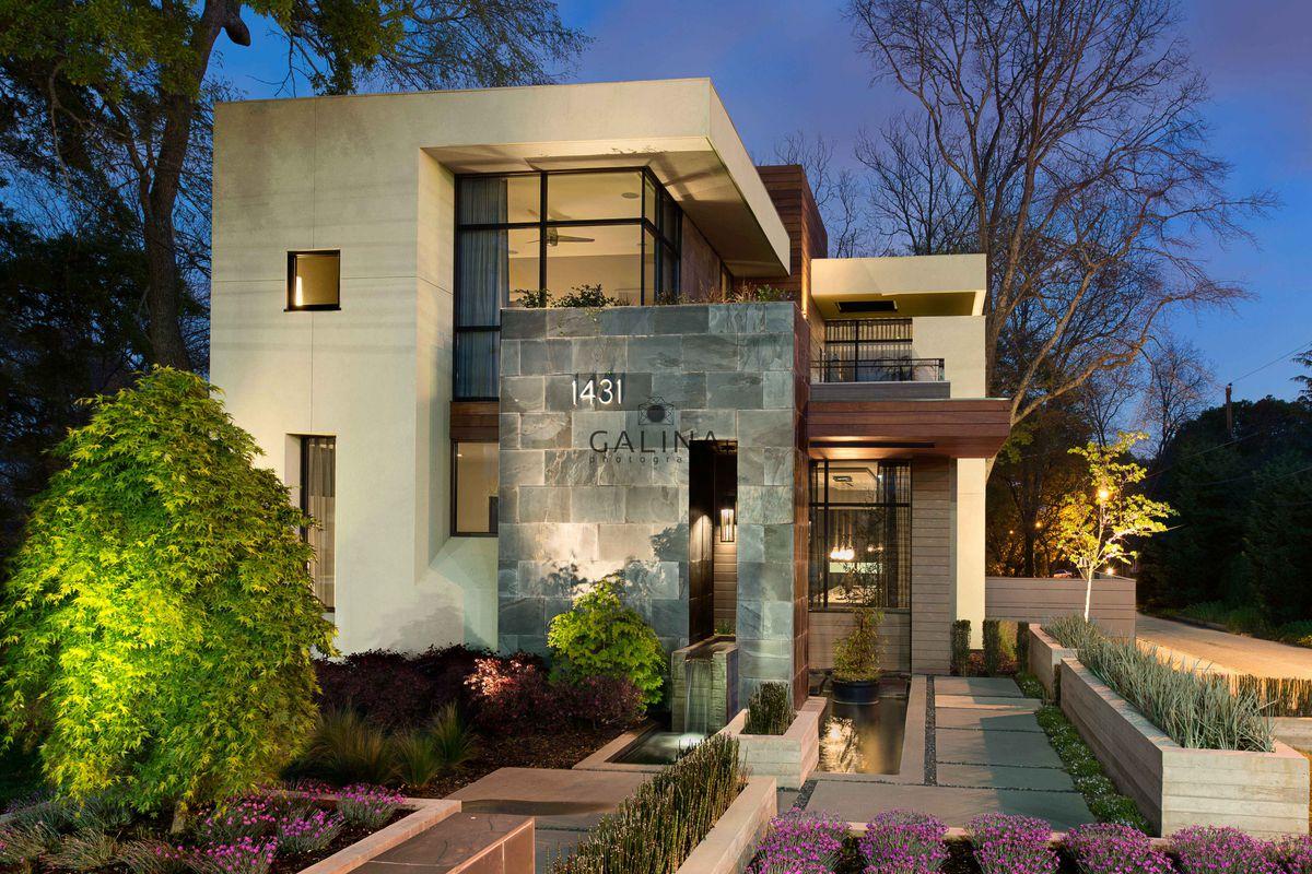 A modern home for sale in Atlanta's Edgewood neighborhood near MARTA.