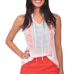 "White tribal tunic, <a href=""http://shopblush.com/shop/clothes/BLB01639-white-tribal-tunic#.Uzz2-61dVi4"">$46</a>"