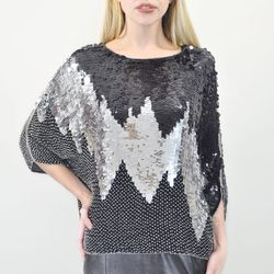 """<strong>VINTAGE Silk Sequined Beaded Radio Frequency Top</strong> at House of Findings, <a href=""""http://thehouseoffindings.com/vintage/silk-sequined-beaded-radio-frequency-top"""">$120</a>"""